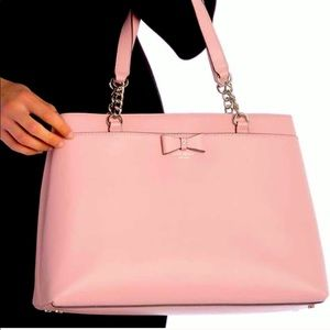 NEW Kate Spade New York HUGE Leather Tote Bag Pink